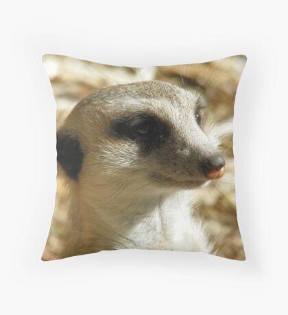 Meerkat -- Calgary Zoo Throw Pillow