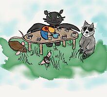 An Unusual Tea Party by ZackSkylar101