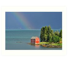 House by the Fjord Art Print