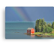 House by the Fjord Metal Print