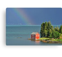 House by the Fjord Canvas Print