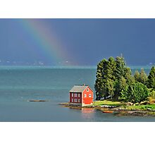 House by the Fjord Photographic Print