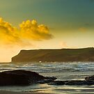 Polzeath and Pentire Head Sunset by David Wilkins