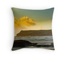 Polzeath and Pentire Head Sunset Throw Pillow