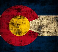 Vintage Grunge Colorado Flag by iEric