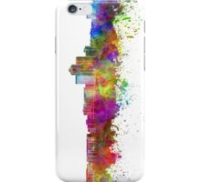 Tucson skyline in watercolor background iPhone Case/Skin