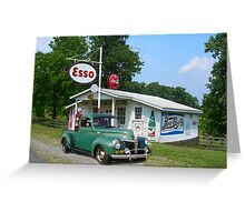 Truck at the Esso Station Greeting Card
