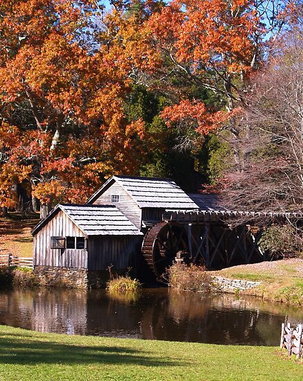Mabry Mill off the Blue Ridge Parkway in Virginia by BCallahan