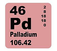 Palladium Periodic Table of Elements Photographic Print