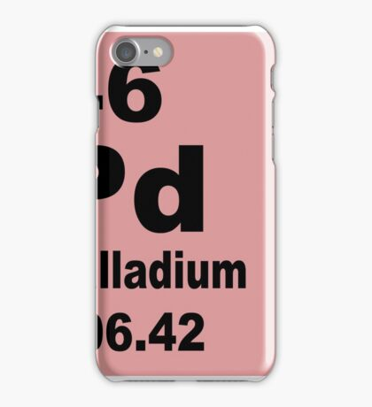 Palladium Periodic Table of Elements iPhone Case/Skin