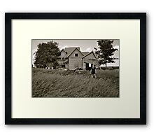 farm winds Framed Print