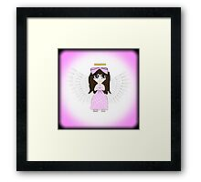 Angel in Pink Anime Framed Print