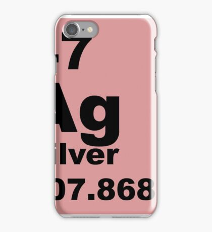 Silver Periodic Table of Elements iPhone Case/Skin