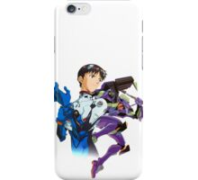 Shinji Ikari and Eva Unit-01 iPhone Case/Skin