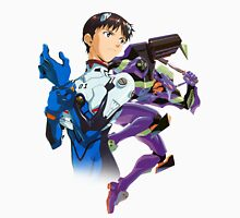Shinji Ikari and Eva Unit-01 Unisex T-Shirt
