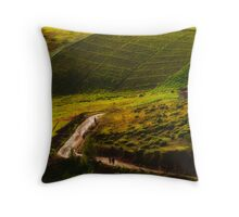 Walking to work Throw Pillow