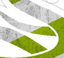 Snake - Silver & Green Sticker