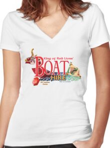 Red Lion's Boat Hire - Zelda Women's Fitted V-Neck T-Shirt