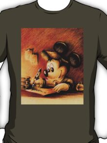 Disney - Mickey Mouse Writing Portrairt T-Shirt