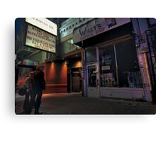 Outside the Club Canvas Print