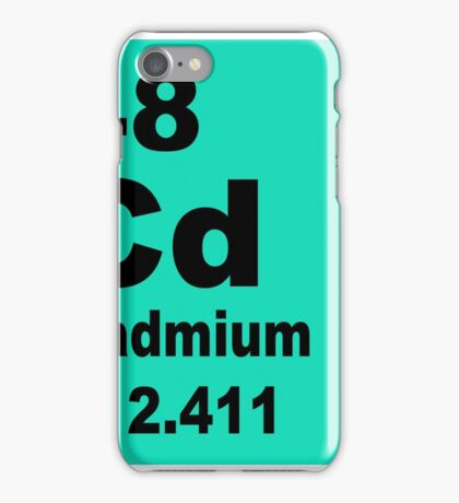 Cadmium Periodic Table of Elements iPhone Case/Skin