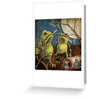 Bad Frogs Greeting Card