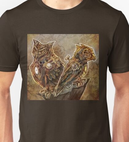 Two Clockwork Owls Unisex T-Shirt
