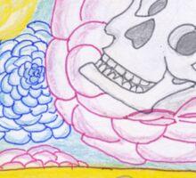 Birthday Card - Skull and Flowers Sticker
