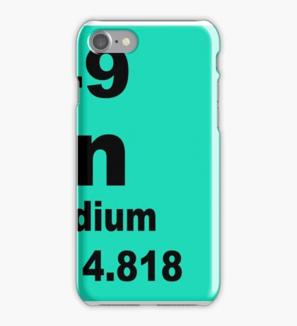 Indium Periodic Table of Elements iPhone Case/Skin