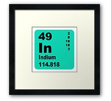 Indium Periodic Table of Elements Framed Print
