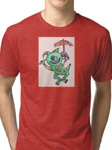 Happy Summer Monster Tri-blend T-Shirt