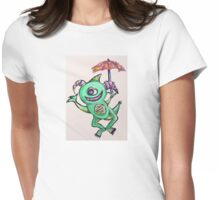 Happy Summer Monster Womens Fitted T-Shirt