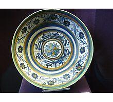 15th century Majolica plate in Hungary Photographic Print