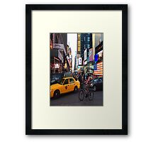 Times Square. Framed Print