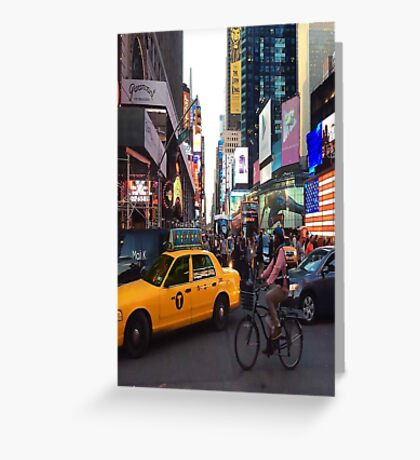 Times Square. Greeting Card