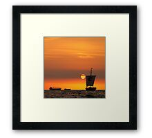 Sail into the sunset... Framed Print