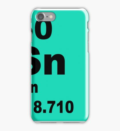 Tin Periodic Table of Elements iPhone Case/Skin
