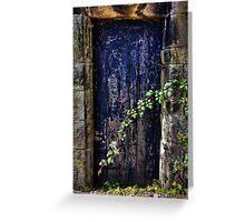 Door to the secret garden. Greeting Card