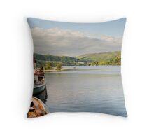 Lady of the Lake  Glenridding Pier Ullswater Throw Pillow