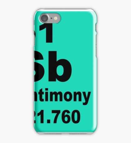 Antimony Periodic Table of Elements iPhone Case/Skin