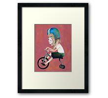 conejo en bicicleta 2006 Framed Print