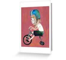 conejo en bicicleta 2006 Greeting Card