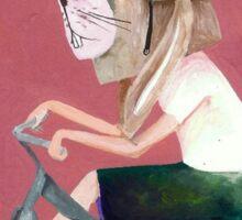 conejo en bicicleta 2006 Sticker