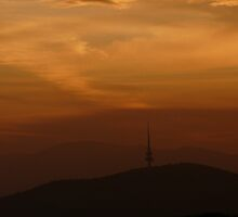 Sunset over Canberra by Kiriel