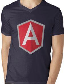 Angularjs geek funny nerd Mens V-Neck T-Shirt