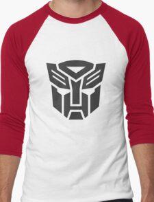 Autobot shield solid geek funny nerd Men's Baseball ¾ T-Shirt