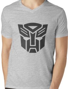 Autobot shield solid geek funny nerd Mens V-Neck T-Shirt