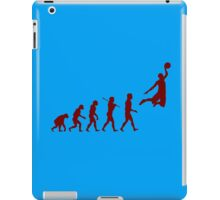 Basketball evolution geek funny nerd iPad Case/Skin