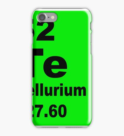 Tellurium Periodic Table of Elements iPhone Case/Skin