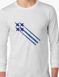 Blue angels diamond geek funny nerd Long Sleeve T-Shirt